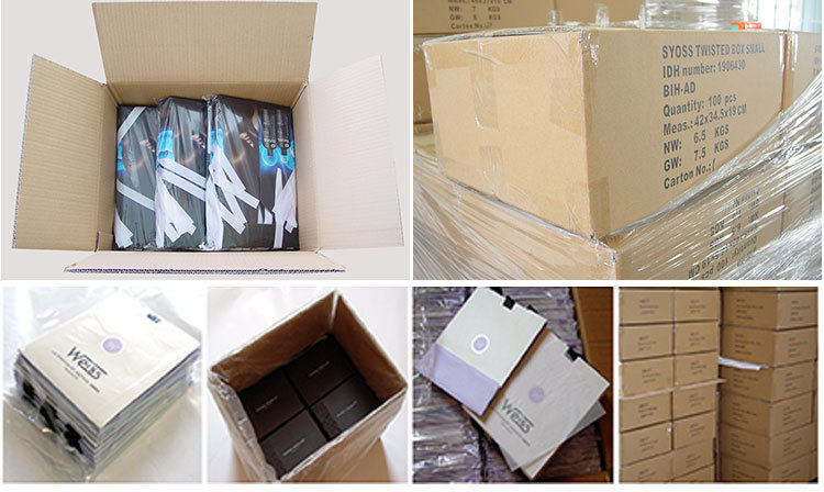 Custom High Quality Oem Handmade Glossy Black Paper Shopping Bags ...
