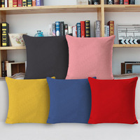 21 Colors Cotton Linen Solid Color Coffee House Bar Pub Club Sofa Couch Seat Chair Furniture Hotel Cushion Covers