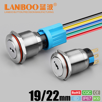 Led latching momentary 12v key switch on off 3 position with 3v led, View  key switch, LANBOO Product Details from Shenzhen Lanboo Button  Manufacturing