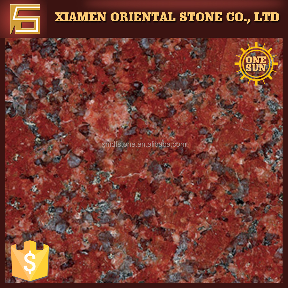 Imerial Red(Big Flower) antique export price indian red paving granite