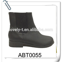 fashion montage split joint lowheel flat ankle boots with elastic gusset