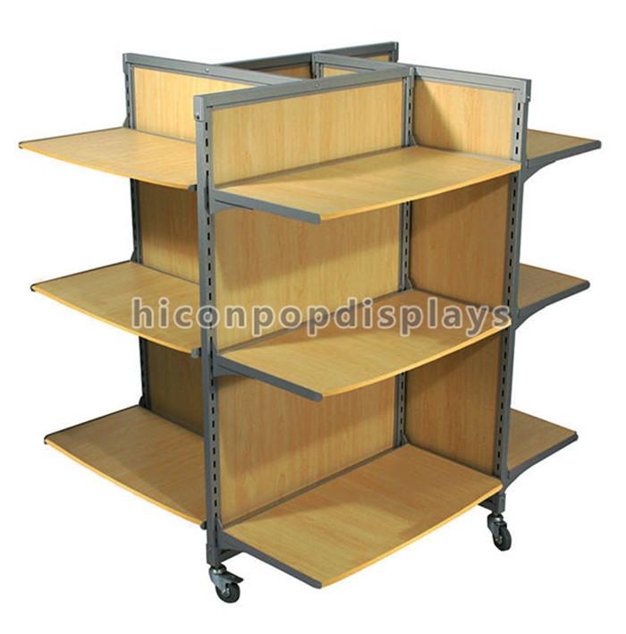Einzigartige Stahl Rahmen Holz Regale Stand Großhandel Gondel ...