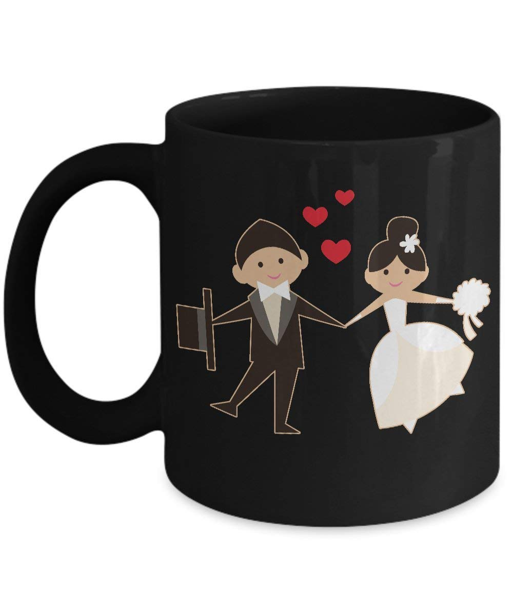 8e75dcda6edc Get Quotations · Shirt White Wedding Married Couple Wife Husband in Love  Coffee Mug 11oz Black