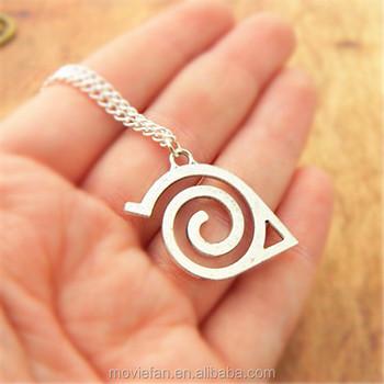 naruto necklace hidden leaf village symbol anime necklace fandom