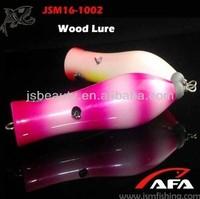 2015 new design wooden fishing lure JSM16-1002