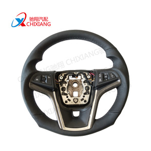 365mm Black Momo Leather Steering Wheel