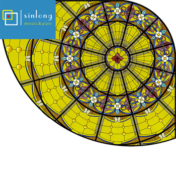 stained glass dome metal with frame stained glass skylight roof