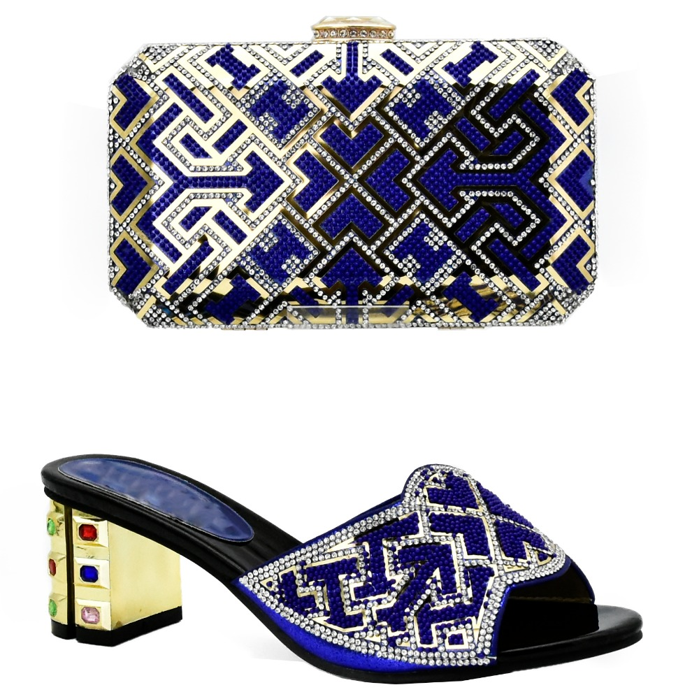 matching and bag quality shoes italian High set blue UvEpxCSwq
