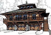 "The ""Grandview"" Arts and Crafts style Home Plan"