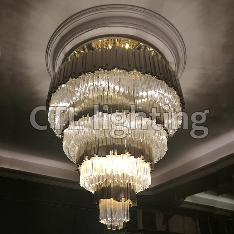 Kuchen Geformt Kristall Deckenleuchte Hotel Lobby Große Luxus Kristall Kronleuchter  Beleuchtung Lampen