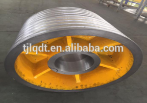 Fujitec Of heavy rope wheel with cast iron wheels and elevator wheel of elevator parts
