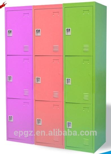 9 Doors Kids Color Worker/student Steel Wardrobe Dormitory Locker Style  Storage Cabinet