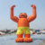 20ft tall giant advertising inflatable animal model for outdoor