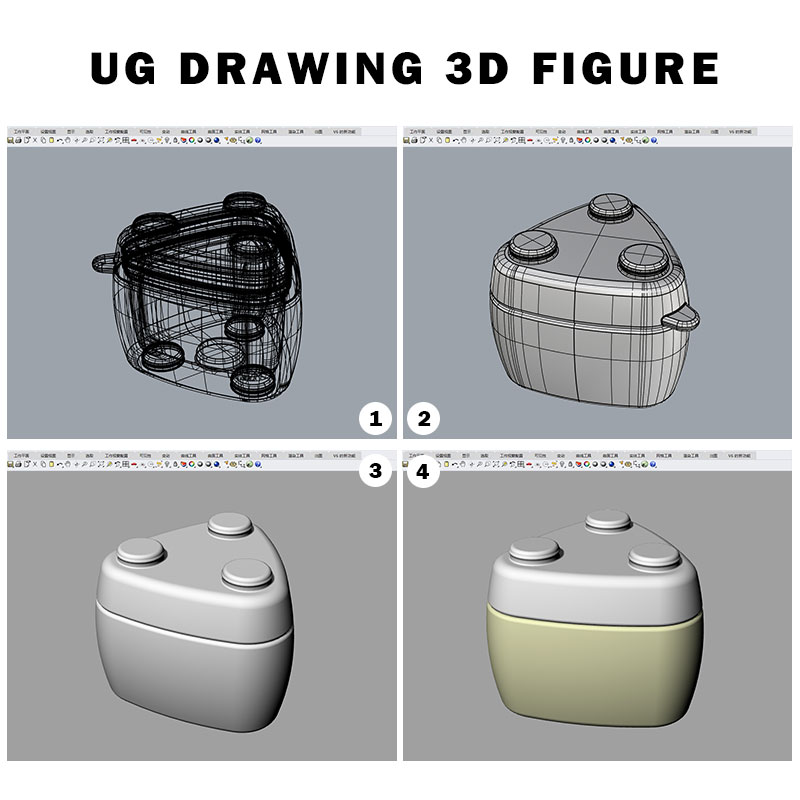 UG DRAWING 3D FIGURE for medical silicone bottles