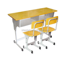 Big promotion fashion color library reading desks and chairs