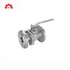 High quality stainless steel 304 316 150lb api 6D 3pc full port flange ball valve