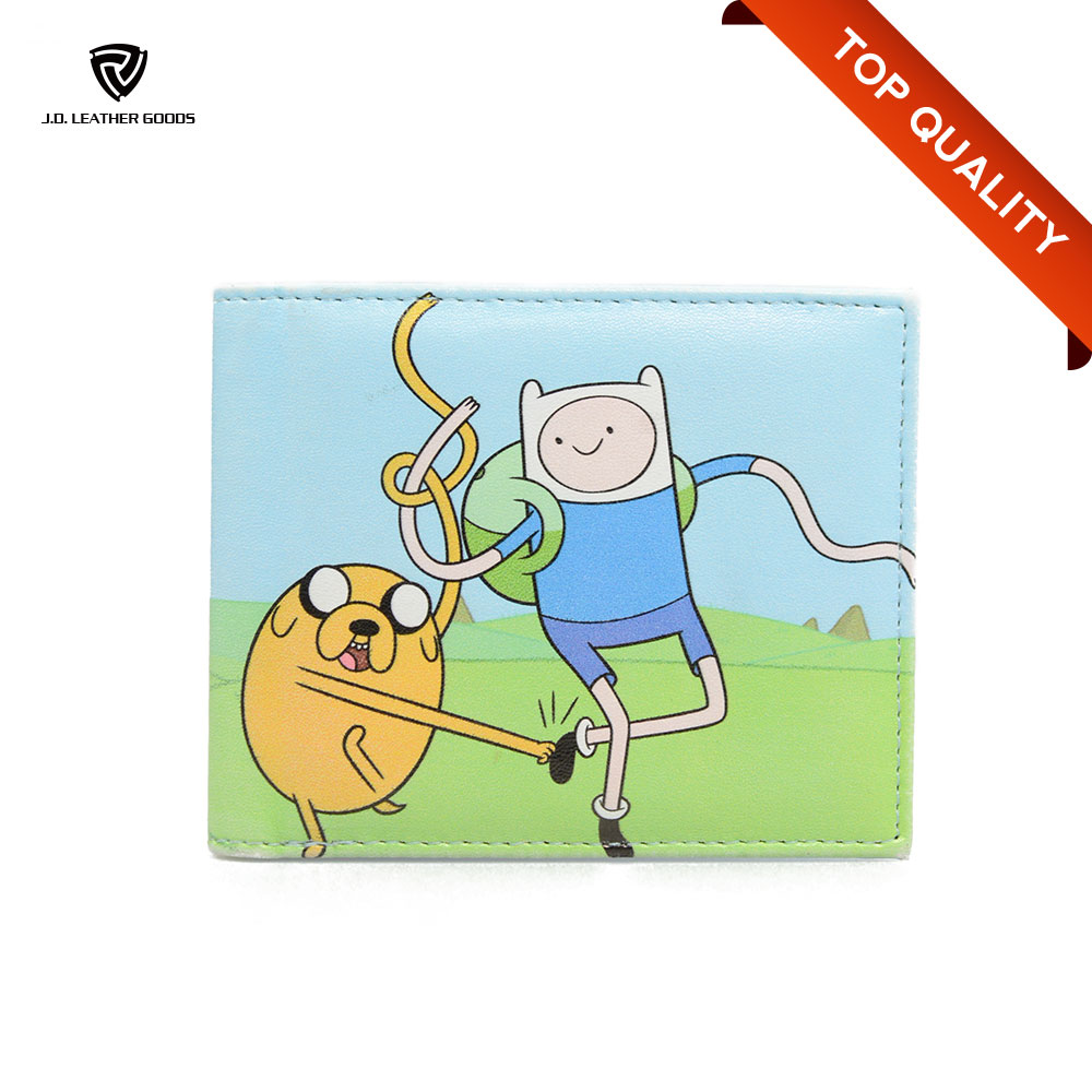 Young Custom Printed Bi-Fold PU Teenager Money Anime Cute Cartoon Wallet