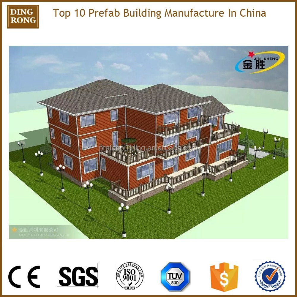prefab steel structure village ready made house estate in india