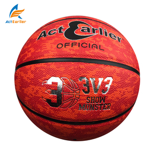 "ActEarlier indoor/outdoor team sports training promotional composite leather cover basketball size 7/6/5# 29.5""/28.5""inch"