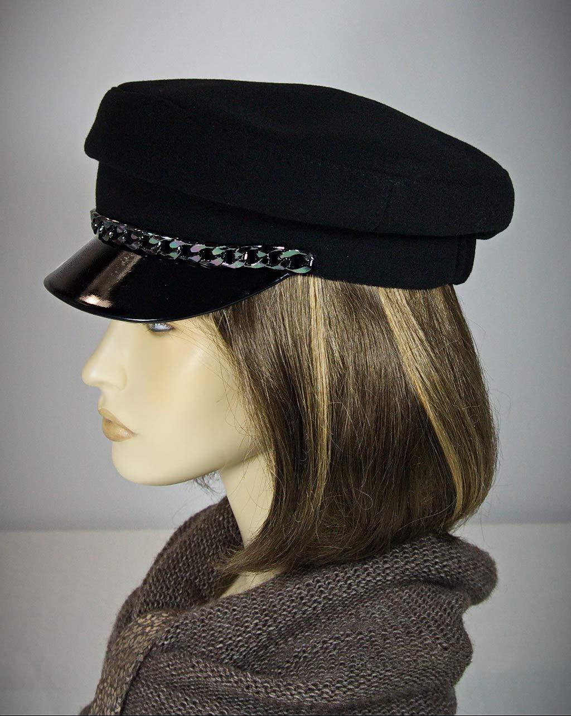 Breton hat, breton cap, cap with strap, john lennon cap, baker cap, classic breton hat, cape breton hat, baker boy cap, captains hat, breton style.