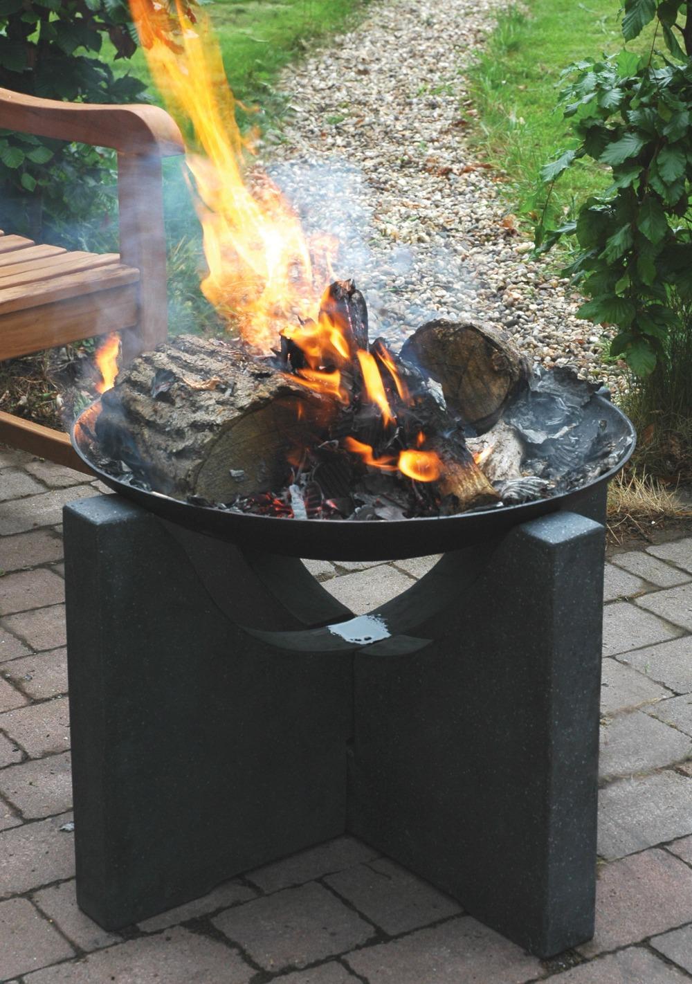 Concrete Base Castiron Fire Pit Outdoor Fireplace Buy Fire Pit