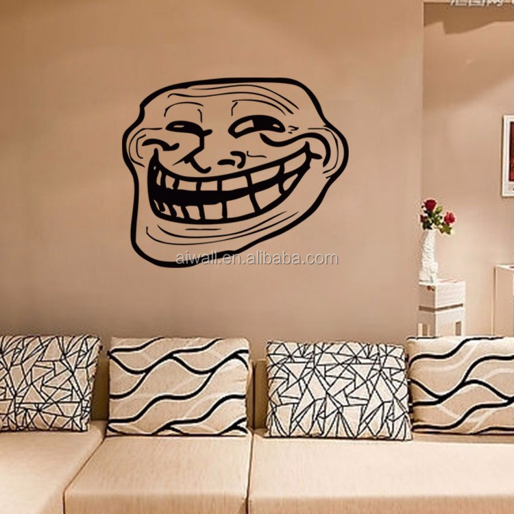 4125 funny big mouth old man wall decals price crash home decor