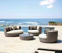 MR dream outdoor furniture relax synthetic rattan sofa set