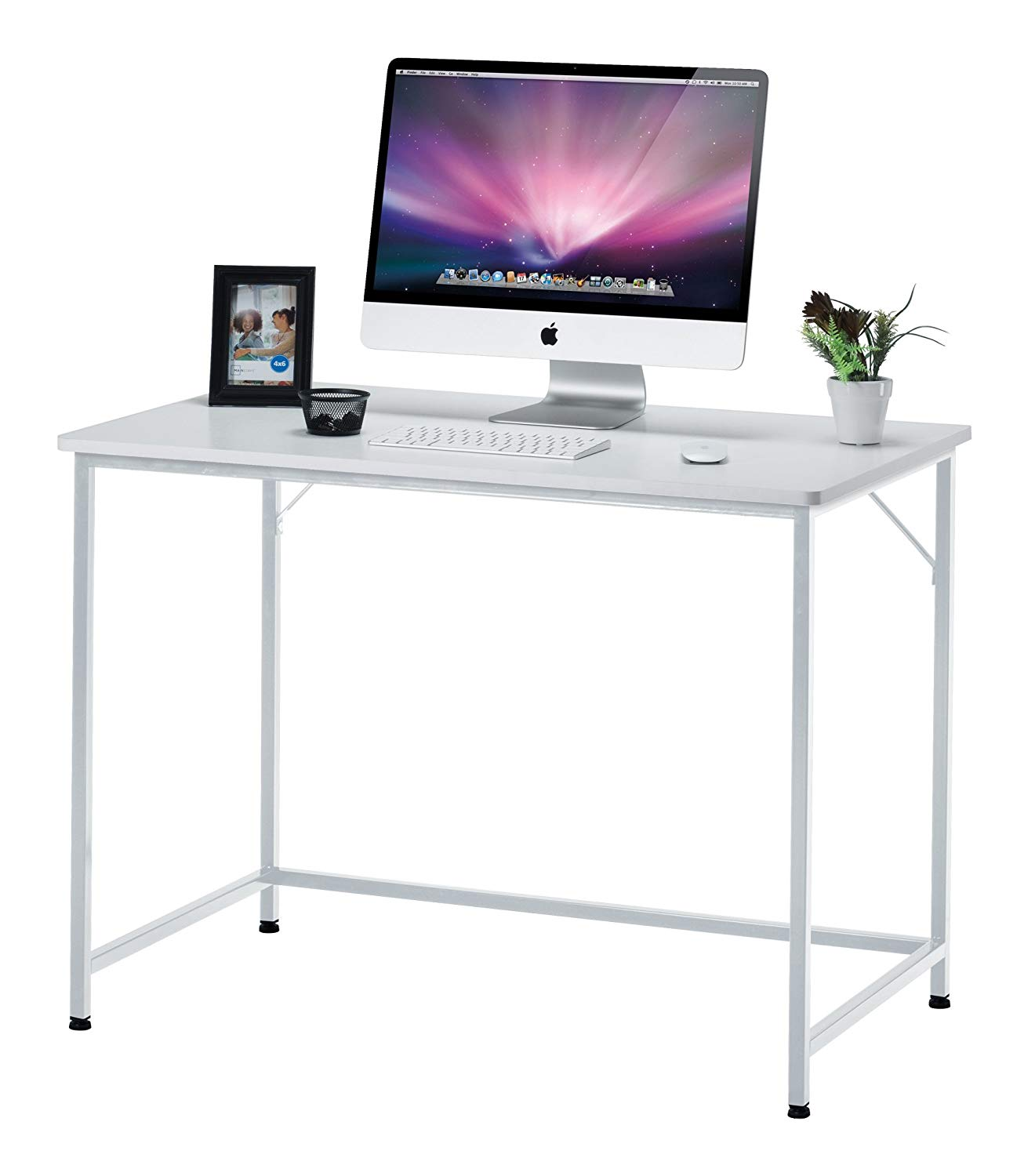 "Fineboard 39"" Home Office Computer Desk Writing Table, White"