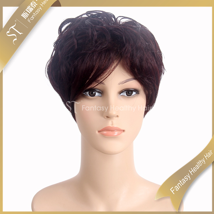 Best Human Hair Wigs Wholesale Burgundy Short Toupee For Men Hair Extension Storage