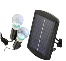 Outdoor/indoor Solar Led Lighting Bulb System 1 solar panel with two Bulbs