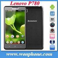 "Original Lenovo p780 mtk6589 quad core 1GB RAM 4GB ROM 1280*720 pixels 5.0"" screen"