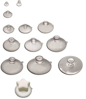 High quality glass suction cup with various sizes and shapes