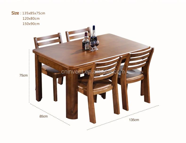 Ordinaire Solide Couleur Cerise Table à Manger Avec Des Chaises En Bois