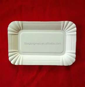 300g rectangle shape paper plate for selling