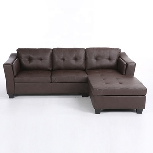 Combination Simple Modern Living Room Sofa,Cheap PU Leather Sectional Sofa Set,Classic corner sofa Chaise