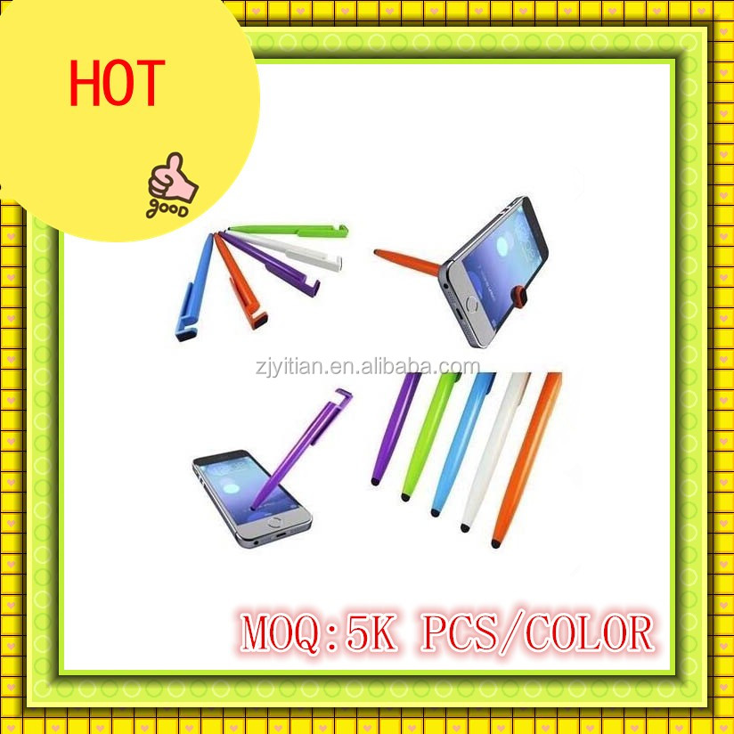 HOT !4 in 1 multifuction stylish pen(pen+mobile stand+mobile cleaner +tablet touch pen)