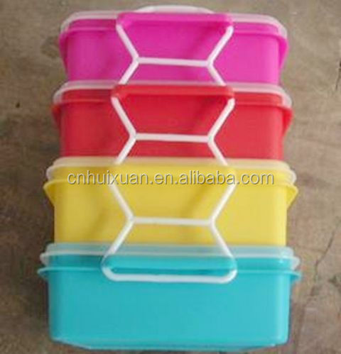 4 layers a set plastic rectangle lunch box/Thermal insulation lunch box with lock