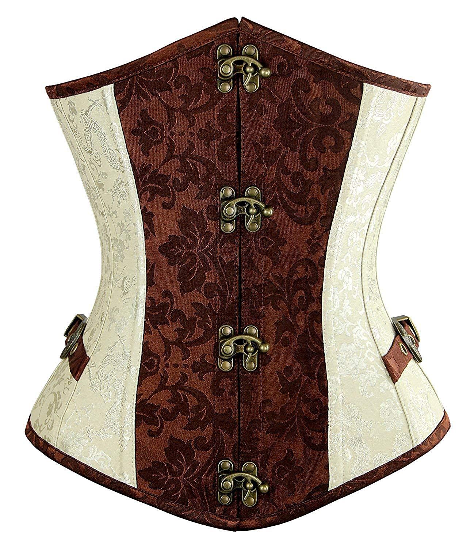 Blidece Women's Fashion PU Leather Halter Shoulder Straps Underbust Corset Top