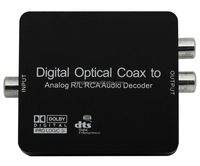 Premium Digital to Analog Audio Decoder SPDIF/Coaxial 5.1-Channel Input to RCA L/R/3.5mm Headphone Output