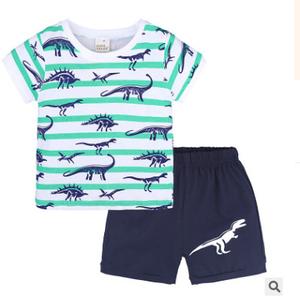Children's wear children's dinosaur suit summer models boys children short-sleeved shorts two sets
