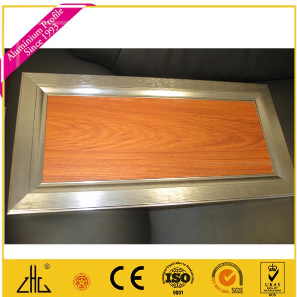 Gabinete de cocina puerta de cristal del marco de aluminio ...