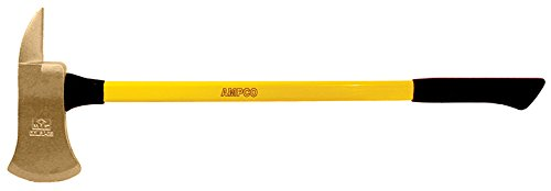 """Ampco Safety Tools A-16FG Axe, Pick Head, Non-Sparking, Non-Magnetic, Corrosion Resistant, 8 lb Head, 36"""" OAL"""