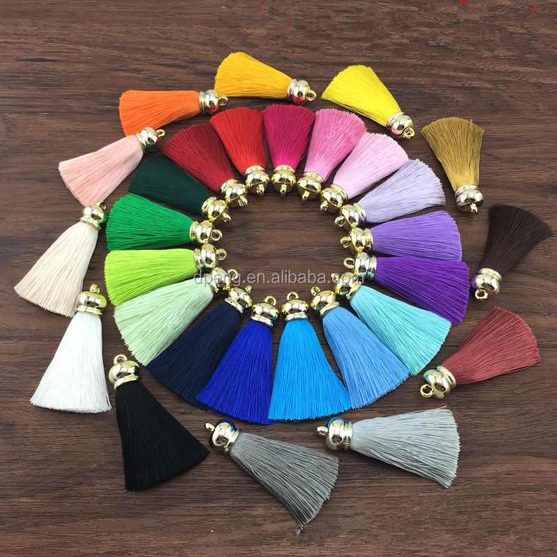 Wholesale fashion cotton tassel for decoration,silk tassel for jewelry,tassel fringe
