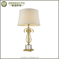Meredith Crystal style brass table Lamp #1054