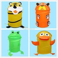 Kids Cute Decorative Animal Shape Folding Laundry Hamper Collapsible Laundry Basket