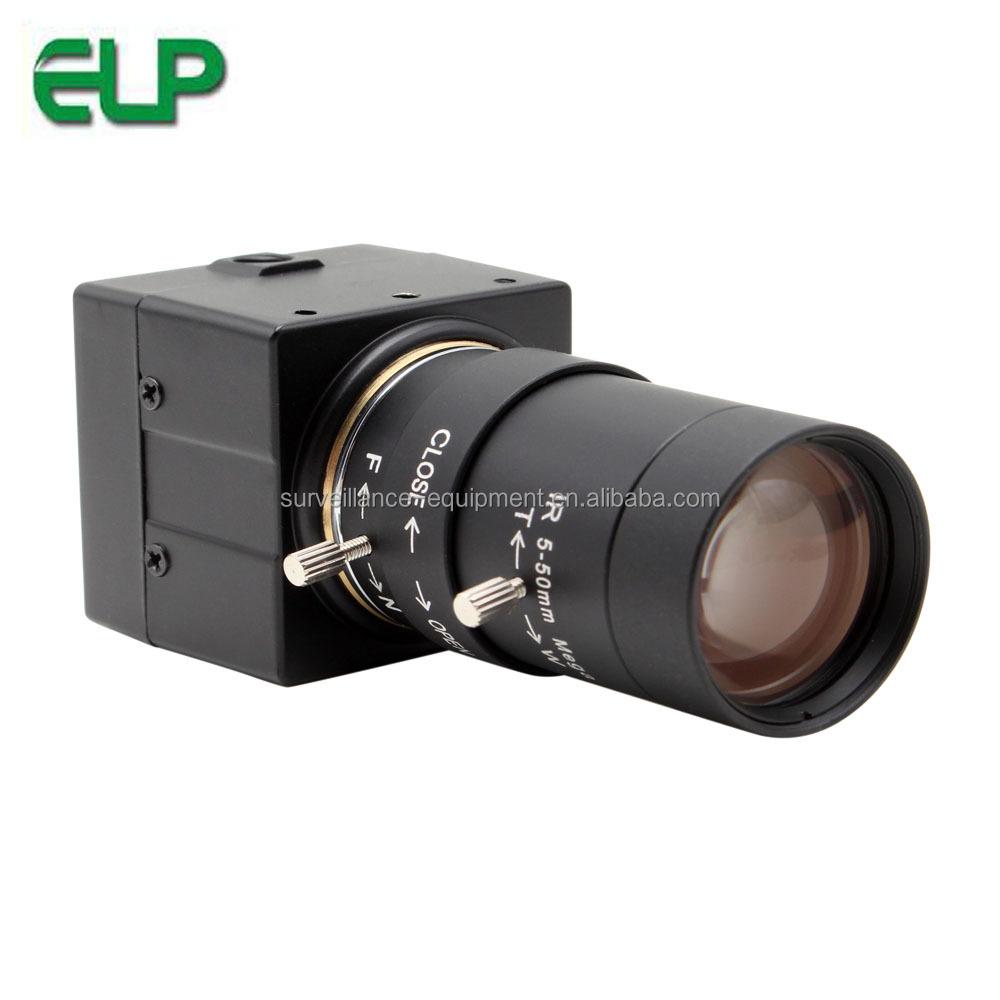 ELP 2 megapiksel düşük aydınlatma 0.01lux H.264 full HD 1080P USB web kamerası ile 5-50mm CS lens