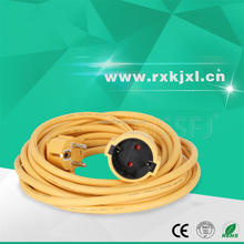 European standard 230V 3x1.5mm2 Silicone Rubber jacket Retractable Electrical power extension cord 50m