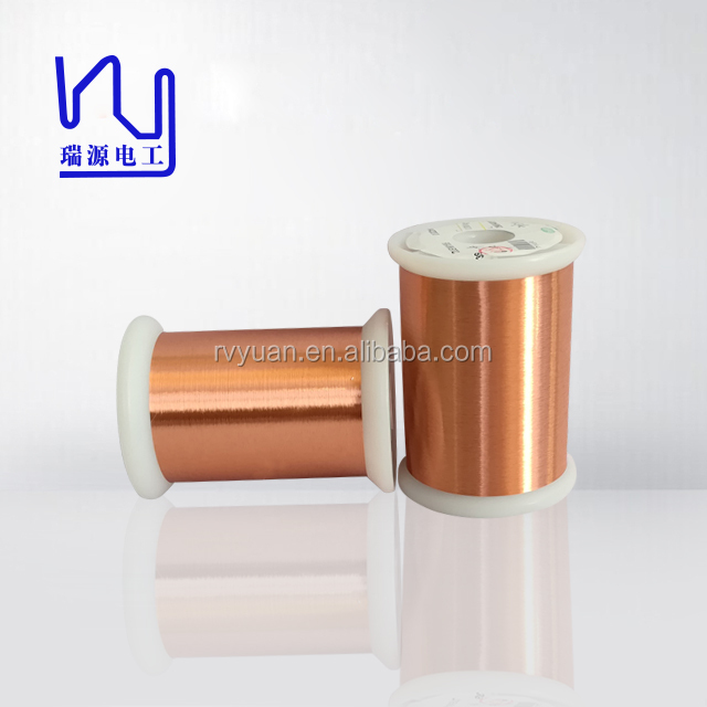 High Frequency Enameled Copper Litz twisted Wire , AWG 24 - 44 stranded Copper Wire