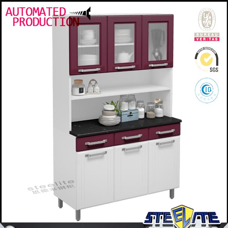 הגדול זול מודולרי ארון מתכת מטבח בתים הודו עיצובים ארונות מטבח למכירה TC-21