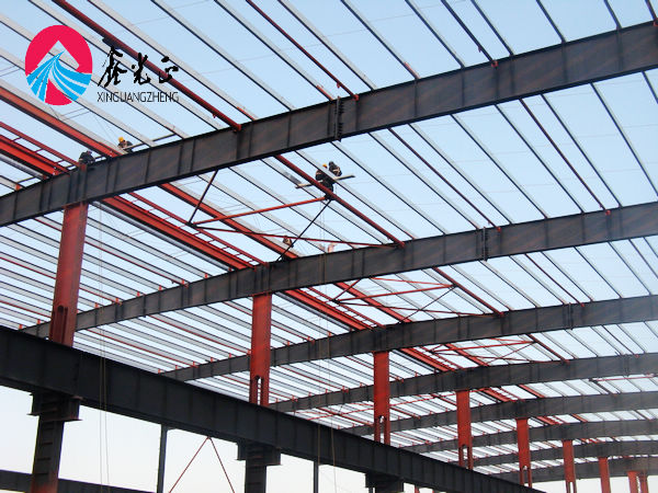 low cost construction building prefabricated gable frame steel structure